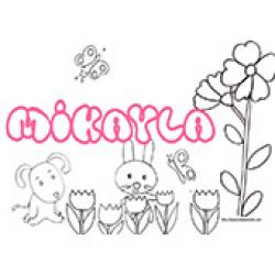 Mikayla, coloriages Mikayla