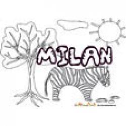 Milan, coloriages Milan