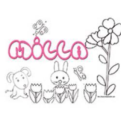 Milla, coloriages Milla