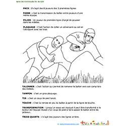 Dernière page du mini dictionnaire du rugby