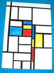 Peindre un tableau graphique à la manière de Mondrian