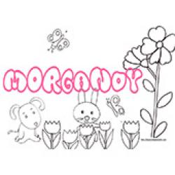 Morgandy, coloriages Morgandy