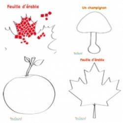 Dessins pour mosaïque d'automne