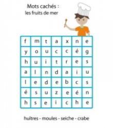 Jeux de mots cachés : lecture de mots
