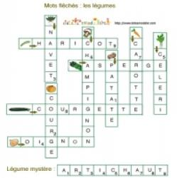 solution du Jeu de mots fléchés: des légumes