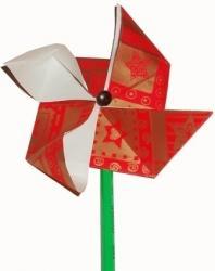 Moulin origami, le moulin à vent