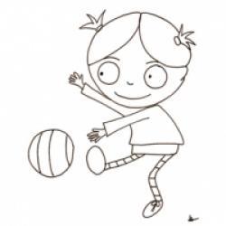 Coloriage d'un personnage : Nana
