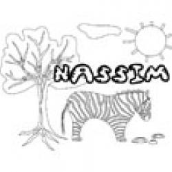 Nassim, coloriages Nassim