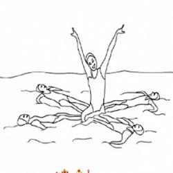 Coloriage natation synchronisée
