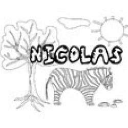 Nicolas, coloriages Nicolas