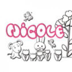 Nicole, coloriages Nicole