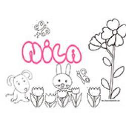 Nila, coloriages Nila