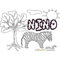Nino, coloriages Nino