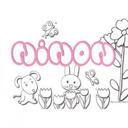 coloriage prénom Ninon