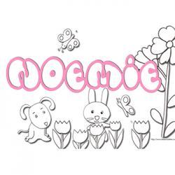 coloriage prénom Noemie