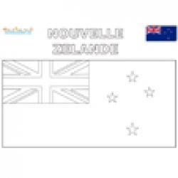 Coloriage du drapeau de la Nouvelle Zélande
