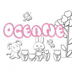 coloriage prénom Océane
