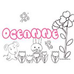 Oceanne, coloriages Oceanne