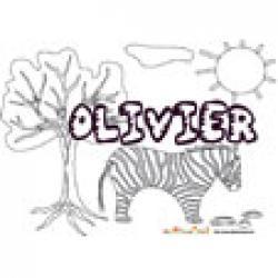 Olivier, coloriages Olivier