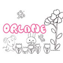 Orlane, coloriages Orlane