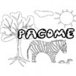Pacome, coloriages Pacome
