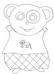 coloriages de pandas pour l'éveil de bébé