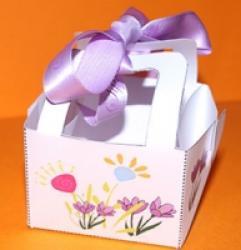 Instructions de réalisation d'un panier a cadeau