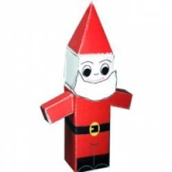 Père Noël paper toy de Noël