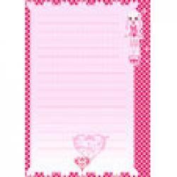 Papier a lettre rose pour les filles