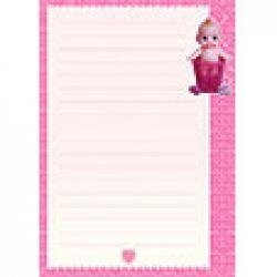 Papier à lettre bebe rose clair
