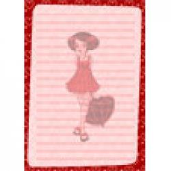 Papier a lettre Baby Doll au parapluie