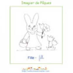 Imprimer la fille de l'imagier de Pâques