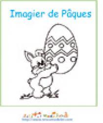 Imprimer la couverture de l'imagier de Pâques