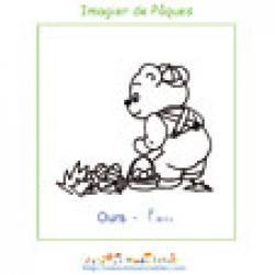 Imprimer l'ours de l'imagier de Pâques