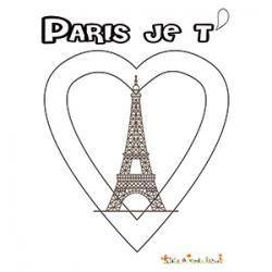 Coloriage A Imprimer Tour Eiffel.Coloriage Tour Eiffel Paris