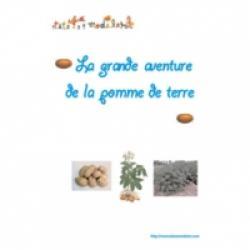 Collage d'un livre sur la pomme de terre
