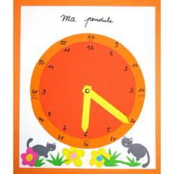 Fabriquer une grosse pendule pour apprendre l'heure