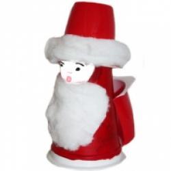 Père Noël pot en plastique