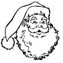 Coloriage de la tête du Père Noël