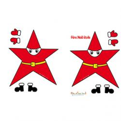 Décoration Père Noël étoile petite taille