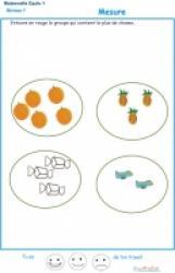 Exercices de comparaison de grandeur, quantité et longueur pour la petite section de maternelle