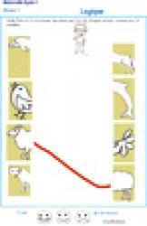Exercice de logique : puzzle 5 assembler deux parties d'une image