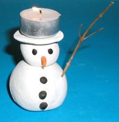 le photophore bonhomme de neige