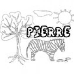 Pierre, coloriages Pierre