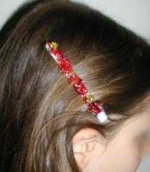 Explications pour fabriquer une barrette perles
