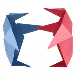 Pingouin en pliage origami
