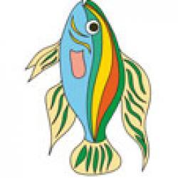 Image poisson exotique à imprimer