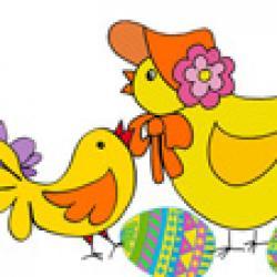 Image de Pâques : les deux poussins dessin 34