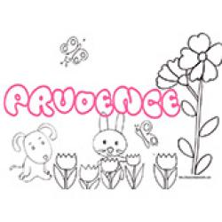 Prudence, coloriages Prudence
