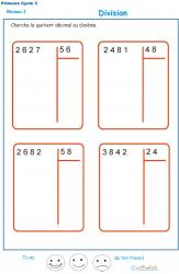 Calculer le quotient décimal au dizième d'une division : exercice 2